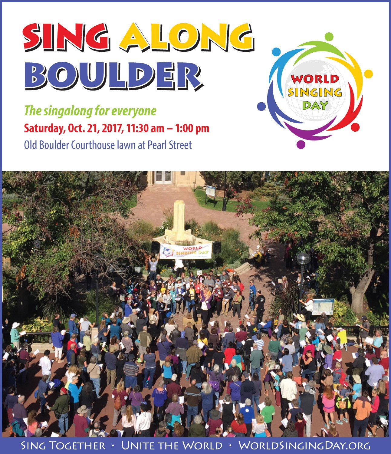 World Singing Day 2017 in Boulder, Colorado