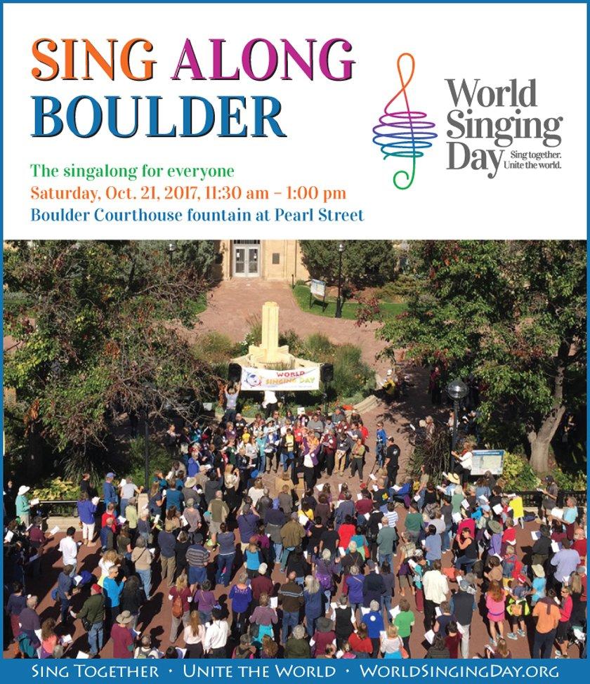 Sing Along Boulder 2017 World Singing Day