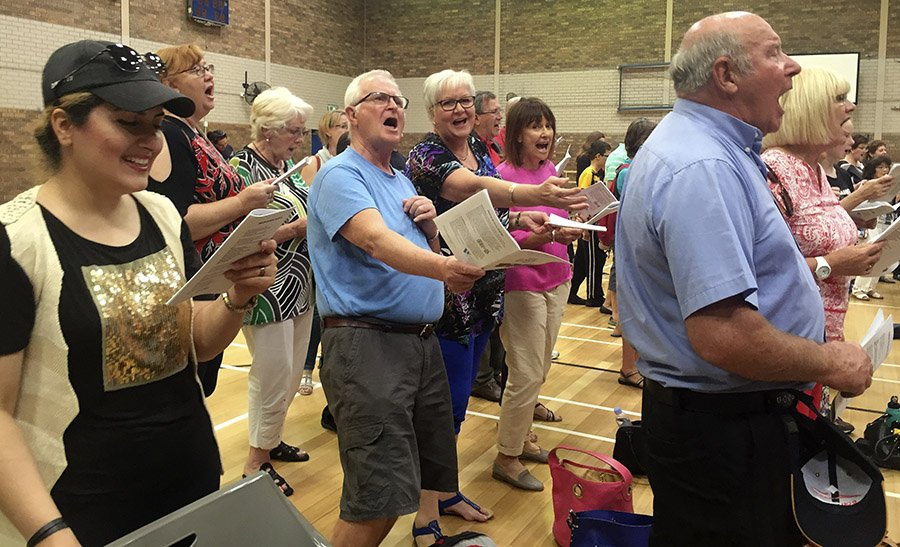 Sing Along Perth on World Singing Day